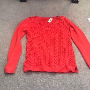 NWT Talbots Orange Sweater